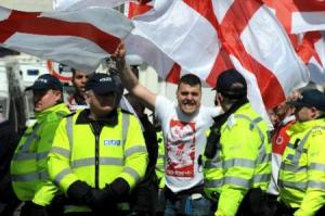 March for England protesters. Published by The Argus 21/04/2013