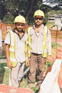 Tamil workers in Singapore.