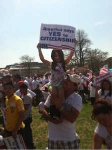 The A10 rally on the National Mall to pressure Congress to pass comprehensive immigration reform bills. Photo courtesy of the author.
