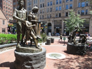 The Boston Irish Famine Memorial. Photo by Tom McLean.
