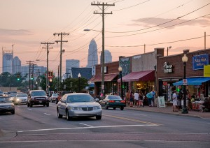 Plaza-Midwood neighborhood on Central Avenue in Charlotte, North Carolina. Photo by James Willamor.