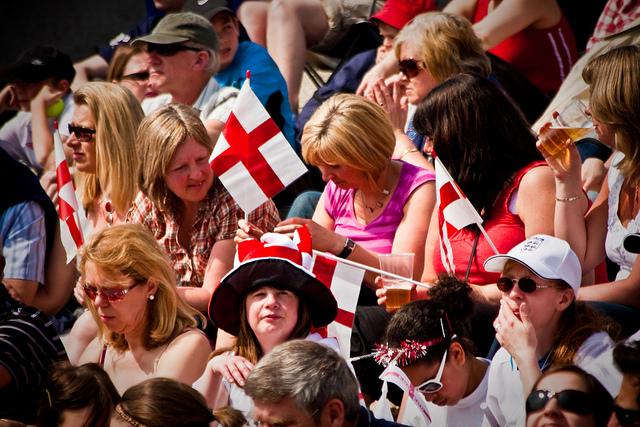 St George's Day celebrations, Trafalgar Square, London. By Garry Knight.