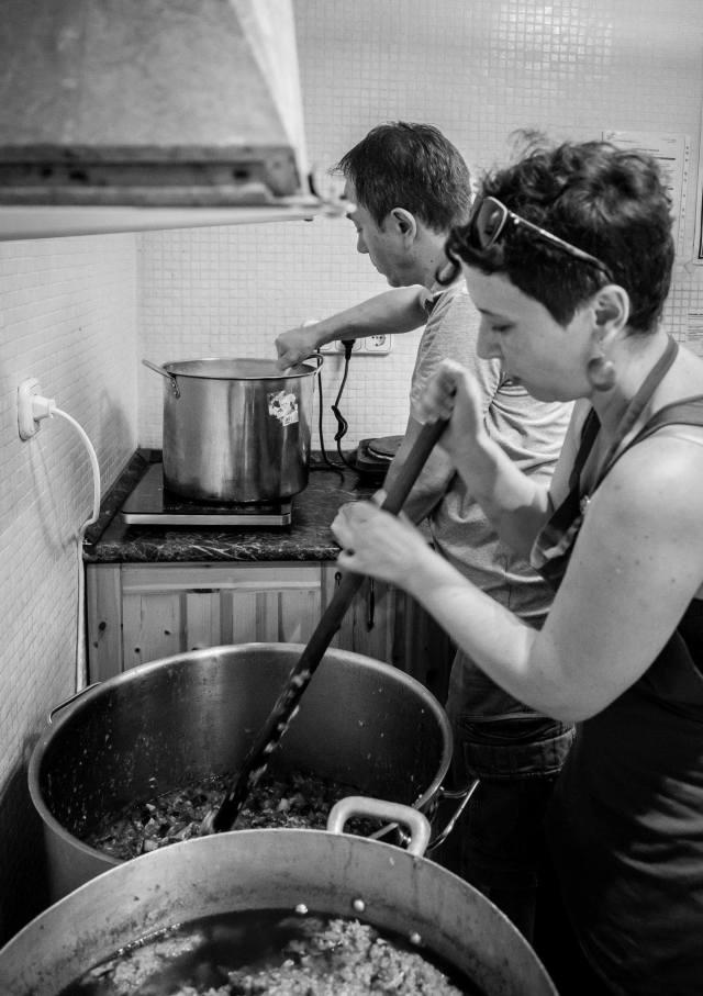Kinga in the kitchen. Photo by Ed Carlile.