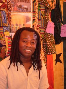 Iddrisu Wari at an event of the organisation he founded, CEHDA Ghana. The image is taken in Barcelona, Spain.